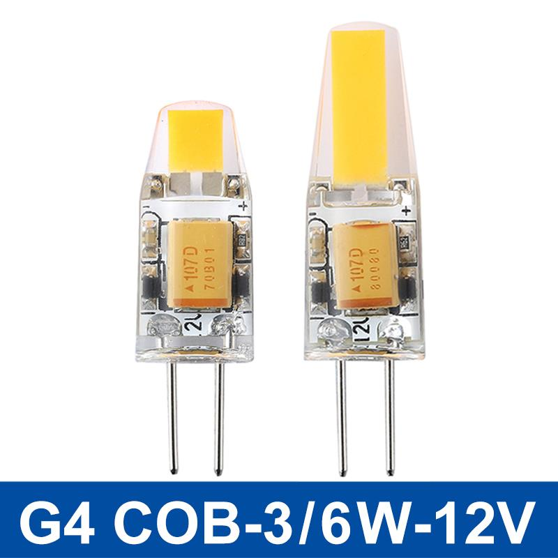 Mini g4 led lamp cob led g4 bulb 3w 6w ac dc 12v led light dimmable