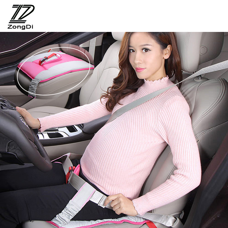 ZD For Alfa Romeo 159 BMW E46 E39 E36 E90 Audi A3 A6 C5 A4 B6 B8 TT Car Protect Fetus Maternity Safety Seat Belt Cushion Covers image