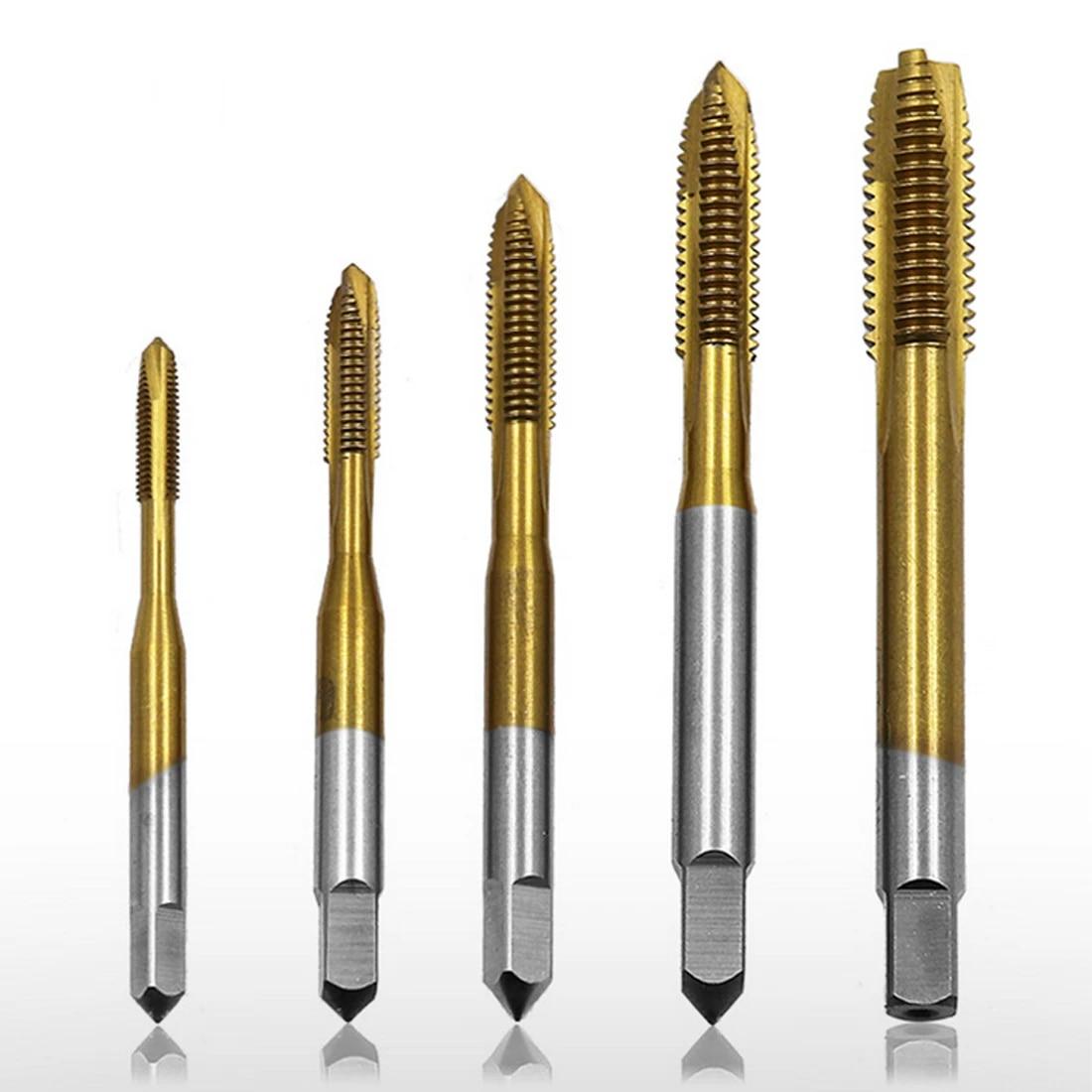 Thread Tap HSS Drill Titanium Tipped M8 Hardened Thread 21 mm Length 58 mm