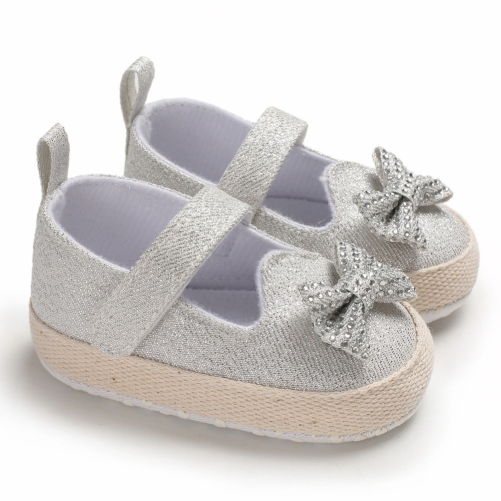 Baby Girl Breathable Anti-Slip Shoes With Bowknot Casual Walking Shoe Toddler Soft Soled First Walkers 0-18M New