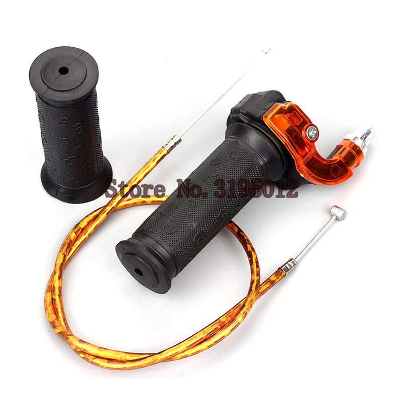 Gas Carburetor Throttle Cable Twist Handle Grips For 2 Stroke 47cc 49cc Mini Moto Dirt Kids ATV Quad Super Pocket Bike