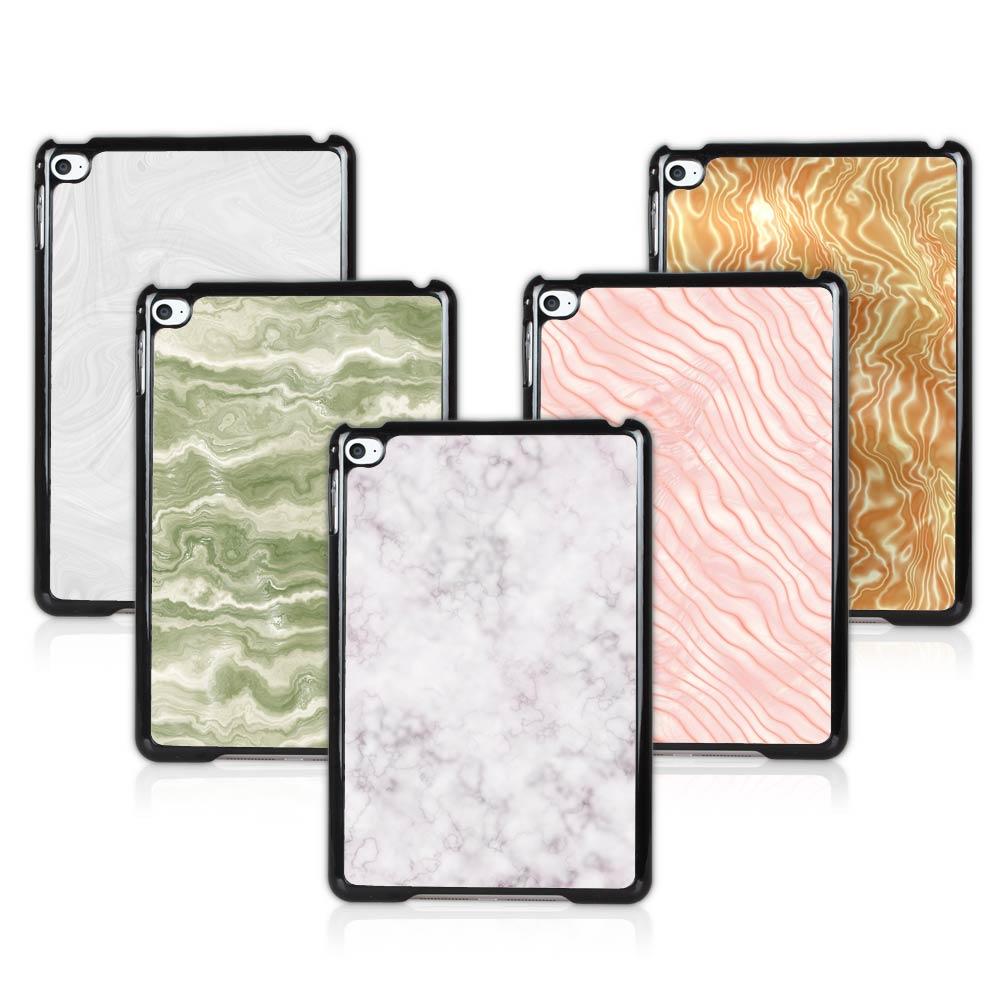 BTD White Marble Hard Plastic Black Case Cover for ipad mini 4 Pink Marble mini 4th Generation Free Screen Film