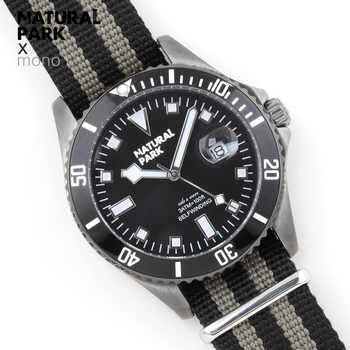 NATURAL PARK Sports Men Watch Quartz Watches Top Luxury Brand Nylon Wristwatch Waterproof Relogio Masculino Enlarge calendar - DISCOUNT ITEM  48 OFF Watches