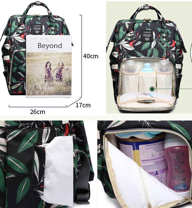 HTB1IK4aaRCw3KVjSZFuq6AAOpXaW Diaper bag backpack mommy bag Maternity large nappy bag Bolsa Maternida Printed Bebe baby bag Travel Backpack Baby Care wetbag
