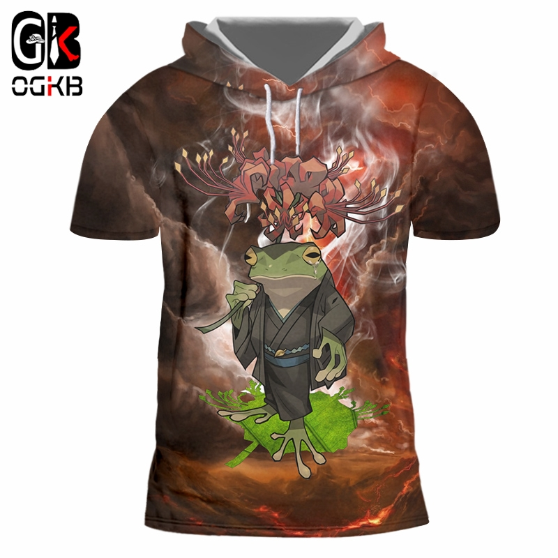 OGKB Digital Printing Sublimation 3D Full Print <font><b>Frog</b></font> And Toad Hoodie <font><b>Tshirt</b></font> Mens Hip Hop Streetwear Drop-ship Apparel 2019 image