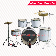 5 Drums 3 Crash Cymbals / Lvory color / Afanti Music Jazz Drum Set / Drum kit (AJDS-422)