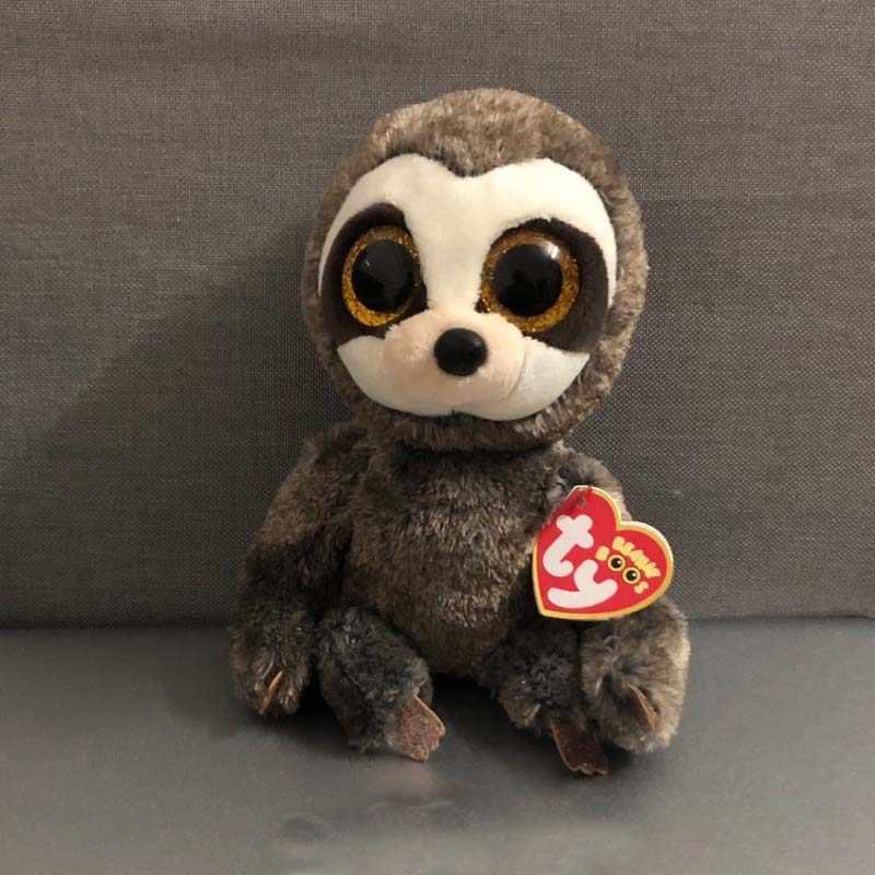 8a72a31693a Ty Flippables 10   25cm Dangler Grey Sloth Plush Regular Soft Big-eyed  Stuffed