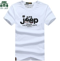 AFS JEEP Original Men S Fashion Big Size Tees White Black Gray Army Green Short Sleeve