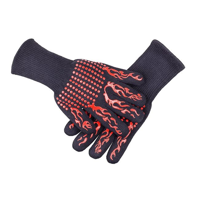 1 Pair Heat Resistant Thick Silicone Cooking Baking Barbecue Oven Gloves BBQ Grill Mittens Dish Washing Gloves Kitchen Su 5