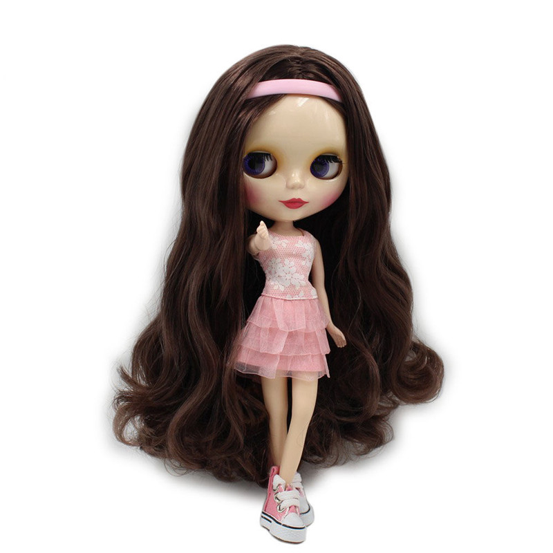 Free shipping Nude Factory Blyth Doll Series No 280BL0222 Brown hair white skin Neo