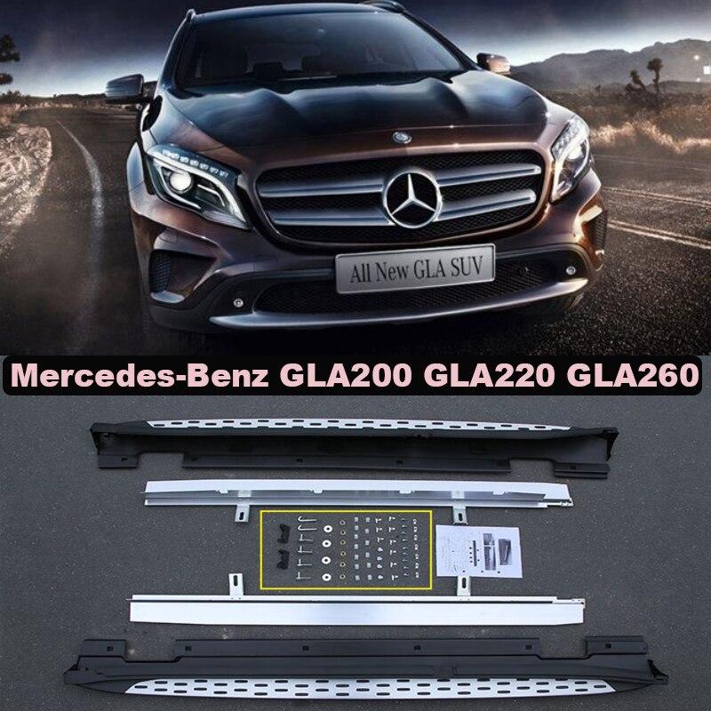Автомобиль Подножки Подножка Бар Педали Для Mercedes-Benz GLA X156 GLA200-GLA260 2015.2016.2017 Высокое Качество Новый Nerf бар