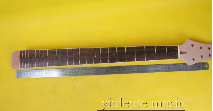 3 pcs 25 high quality Unfinished electric guitar neck maple made rosewood  fingerboard  009# 22 fret 648 mm 25 5 inch unfinished electric guitar neck maple made and rosewood fingerboard model 1pcs 3