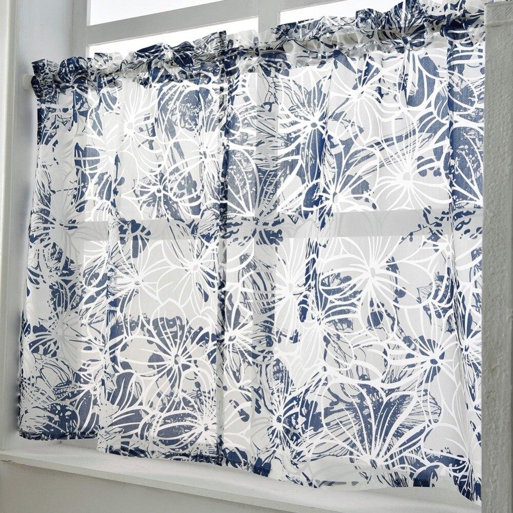 Short Sheer Made Kitchen Door Panel Treatment Curtain