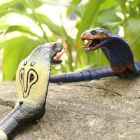 [Best] Trick toys Remote control animal LED light IR RC Snake King cobra electronic pet robot model scary Prank toy joke toy