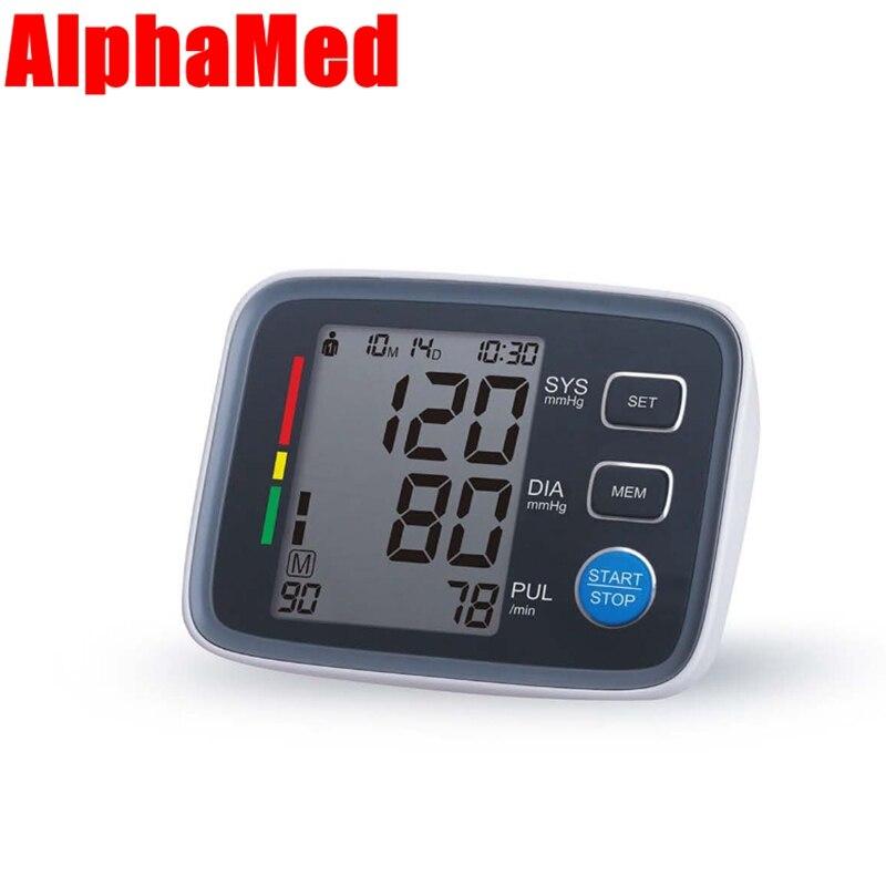 Alphamed FDA Arm Blood Pressure Pulse Monitors Health care digital Upper Portable Blood Pressure Monitor font