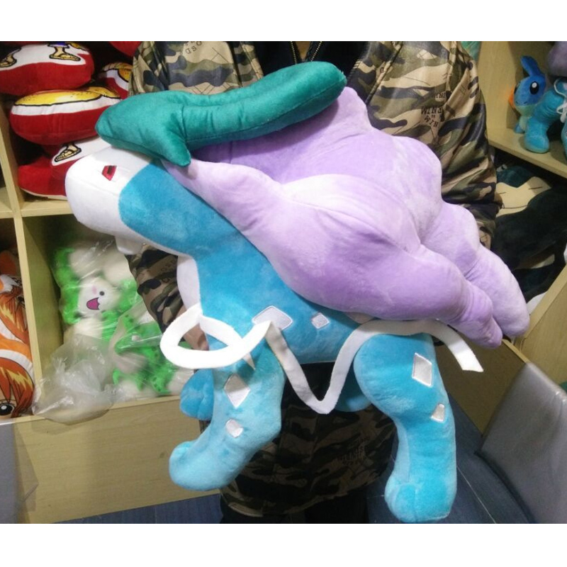 Suicune doll High quality big soft Limited plush cute for friend Children gift birthday present Entei pikachu toys 6pcs plants vs zombies plush toys 30cm plush game toy for children birthday gift