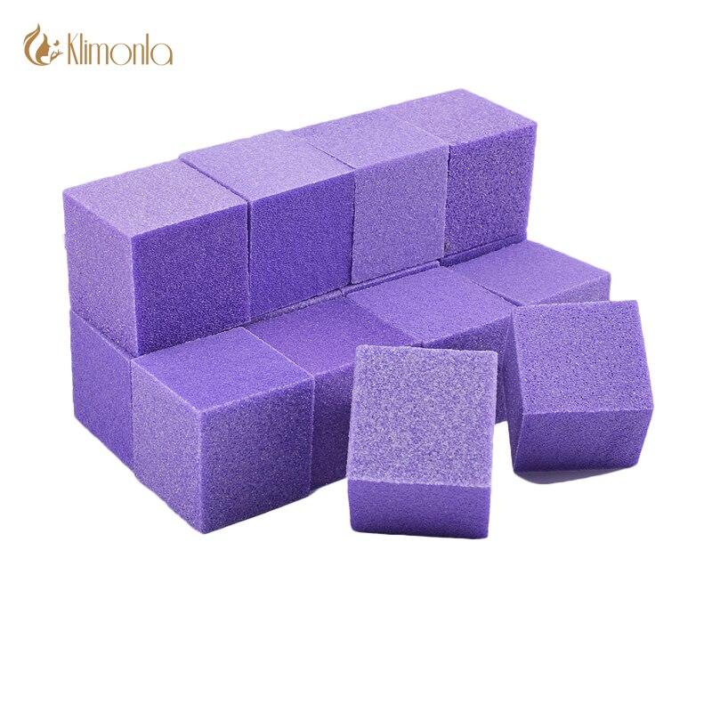 100pcslot Mini Purple Sponge Nail Buffer Files Double Side Nail Sanding Polishing Blocks Pedicure Manicure Nail Art Tools