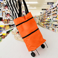 Simanfei Shopping Bag 2017 New Arrival Shopping Cart Folded High Capacity Shopping Food Organizer Trolley Bag