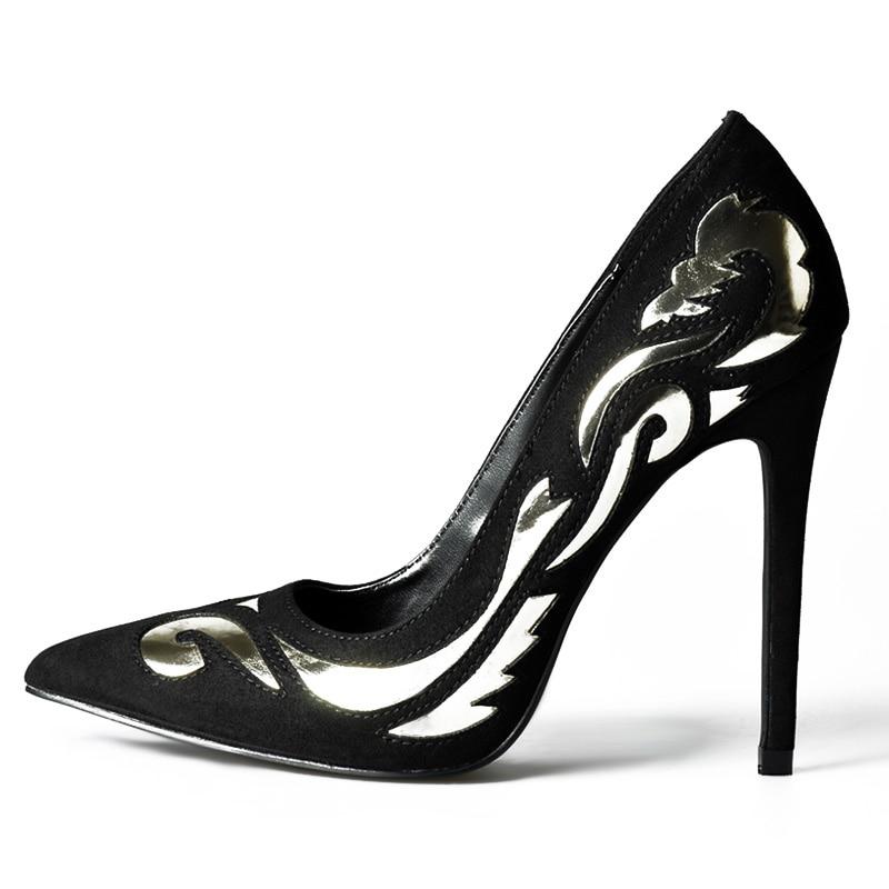 Femmes Haute Dame 2018 Été Talons Pompes De Bout Sexy Roses À Chaussures Pour Printemps Pointu Gold Paumes RxpEfzqZ