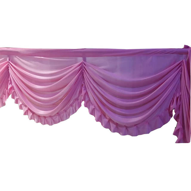White Pink Color Wedding Swag Party Backdrop Decoration Curtain