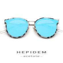 лучшая цена Acetate Sunglasses women Brand Designer Fashion Cateye oculos de sol feminino Cat Eye Sun Glasses for ladies Goggles Nylon Lens