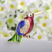 Perfect Birds Pin Brooches Collares Esmalte Enamel Broaches Fashion Women Gold Broches Accessories Luxury Rhinestone Broch