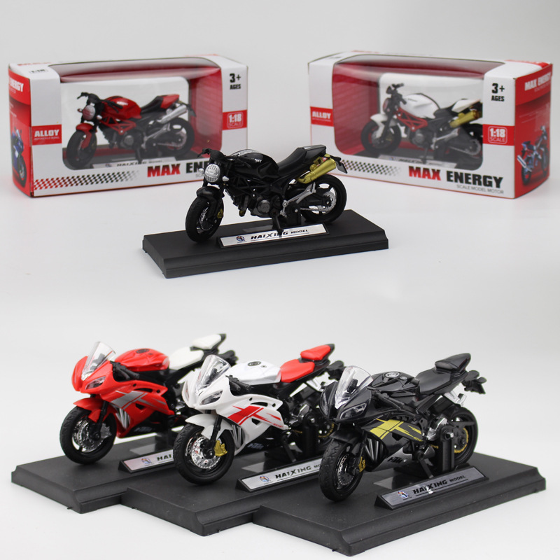 1:18 Plastic Motorcycle Model Toy Sport Race Model Motorbike For Children Gift Collection