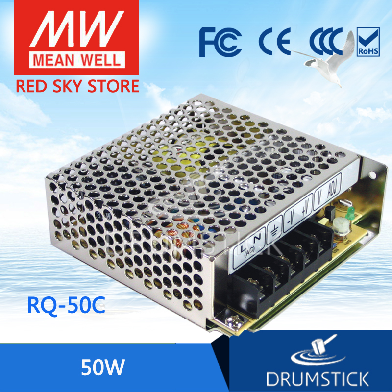 Selling Hot MEAN WELL RQ-50C meanwell RQ-50 50W Quad Output Switching Power Supply