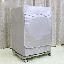 Washing Machine Zippered & Velcro Dust Cover Sunscreen Enclosures Sided Silver Coated Fabrics Thicker Waterproof Durable