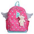2017 Новых прибытия девушки детский сад мешок cute bear дети школьные сумки red dot ангельские крылья дети рюкзак мальчики mochila эсколар