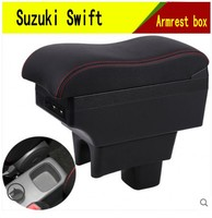 For Maruti DZire Swift armrest box central Store content box with cup holder ashtray decoration With USB interface