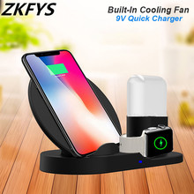Wireless Charging Dock For iPhone X XS MAX XR For Samsung S8 S9 S10e 10W Qi Wireless Charger Stand For Apple AirPods Apple Watch