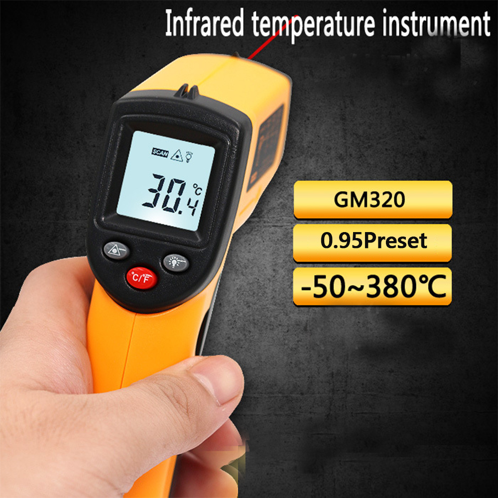 Digital Infrared Thermometer LCD Display Surroundings Temperature Tester Non-contact Auto Car Repair Diagnostic Tool Thermograph