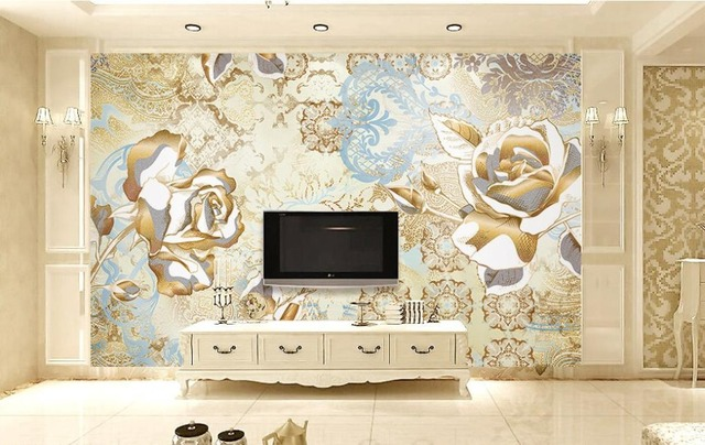 Luxury European style 3d photo wallpapers for living room Patterns ...