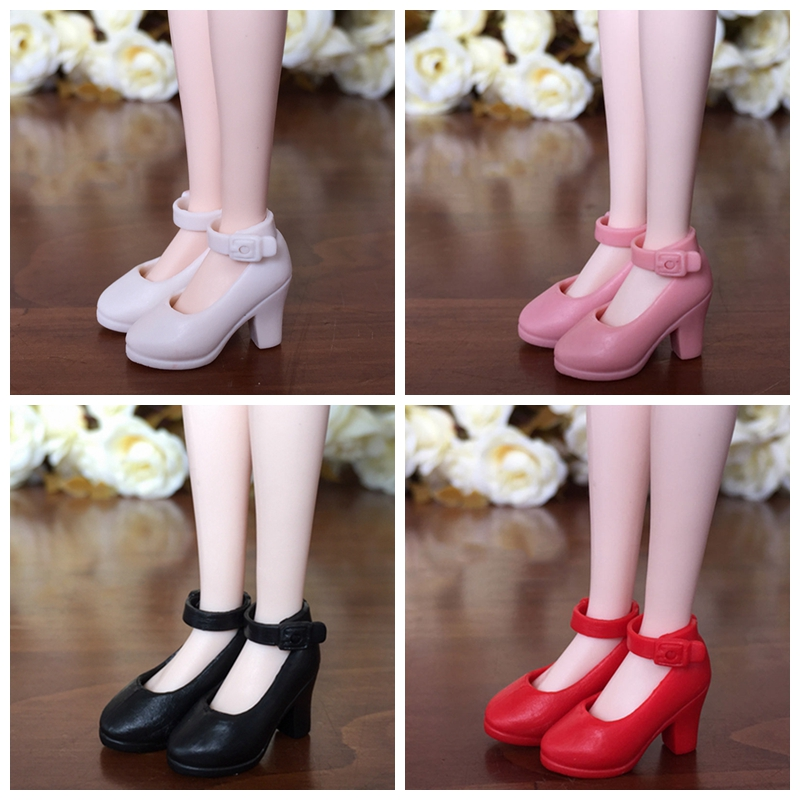 4Pairs High Heel Shoes For Blythe Dolls 1/6 Fashion Shoes For Licca Doll Mini Shoes For Momoko 1/6 BJD Doll Accessories uncle 1 3 1 4 1 6 doll accessories for bjd sd bjd eyelashes for doll 1 pair tx 03