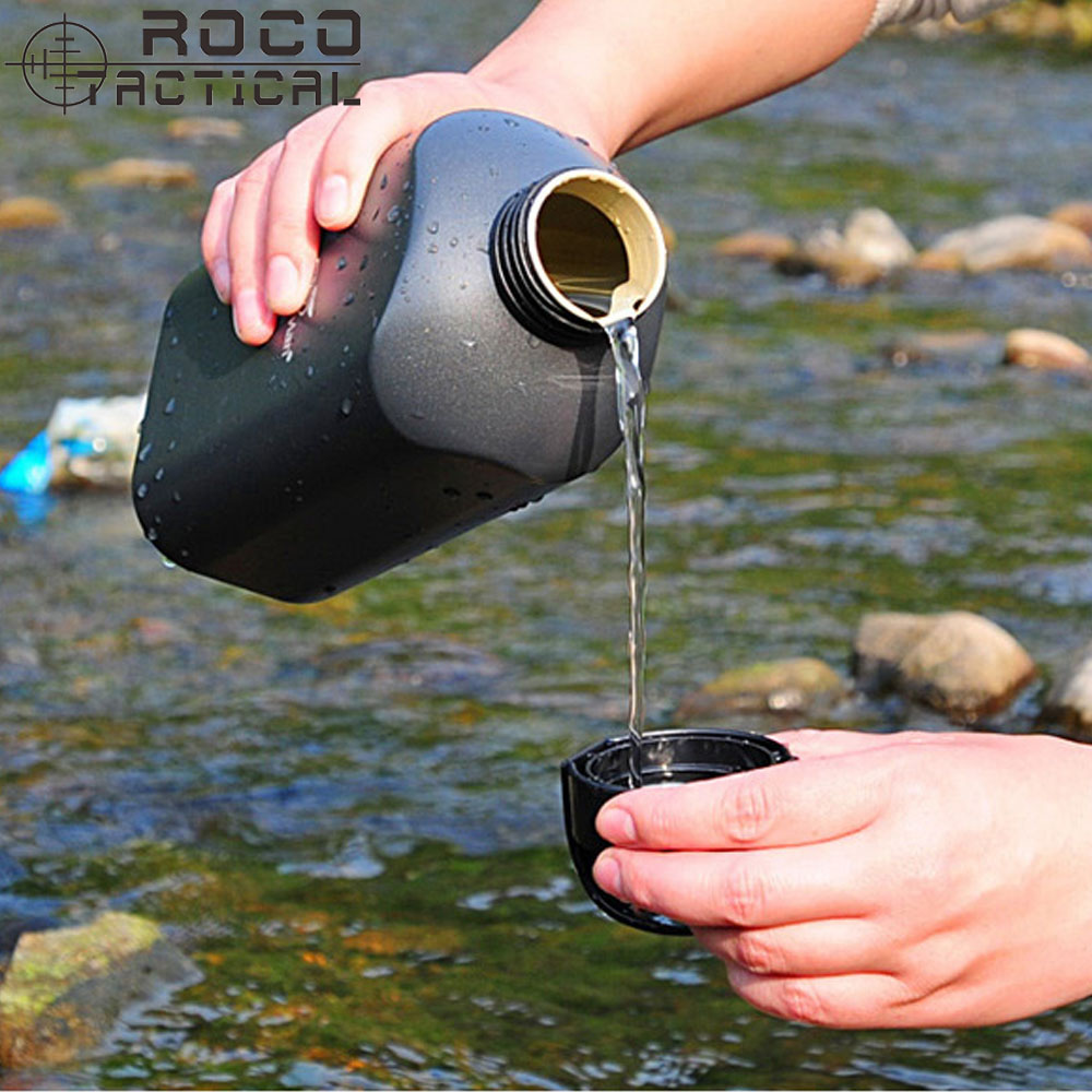 1000ml Outdoor Hiking Sporting Aluminum Water Bottles Military Kettle Army Military Canteen Bottles