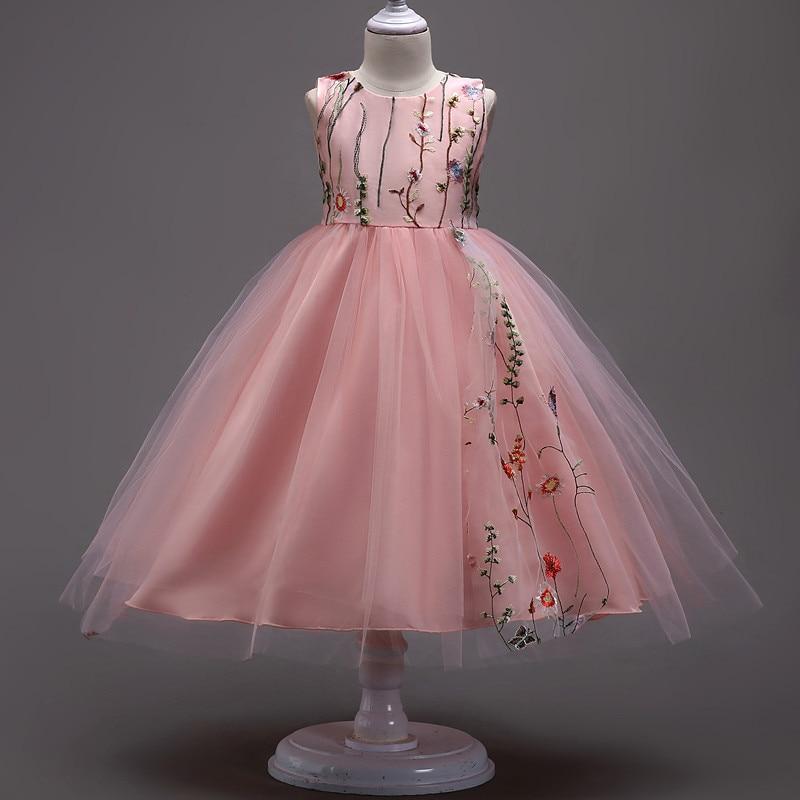 Los niños vestido de princesa sin mangas rosa / blanco / negro / - Ropa de ninos