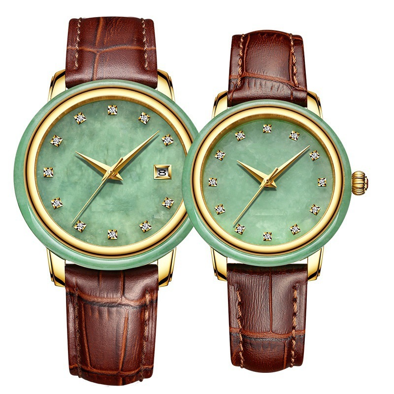 2020 Limited Brand Jade Calendar Watch Chinese Wind Lovers Waterproof Imported Full Automatic Mechanical Watches