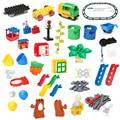 Big Building Blocks Accessory Bricks Doll Animals Bridge Cart Slide Ladder Swing Compatible with Legoed Duplo Baby Toys Gift