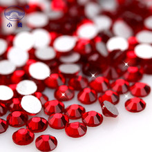 Non Hotfix Flatback Rhinestones Red Round Glass Glitter Crystal For Nail Art Decoration X013