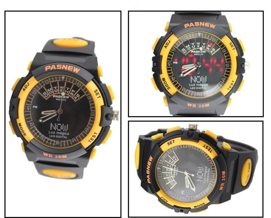2018 Free Shipping Fashion Men Watch Waterproof Sport Men Wristwatch S Quartz Digital Boy Clock Relogio Masculino (7)