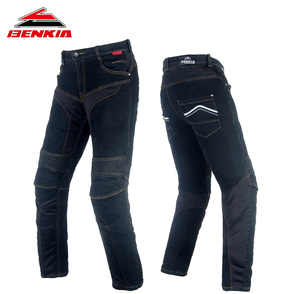 BENKIA Riding Pants Motorcycle Racing Denim Motorcycle Pants Protective Moto Jeans Pantalon Motorbike Trousers Moto Jeans PC44  benkia motorcycle rain jacket moto riding two piece raincoat suit motorcycle raincoat rain pants suit riding pantalon moto rc28