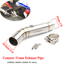 CBR500 CB500X CB500F Middle Link Pipe 51mm Motorcycle Silencer System for Honda All years