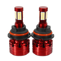 1 Pair X9 HB5 9007 32pcs LED DC12 24V Headlight LED Kit Hi Low Beam Bulbs