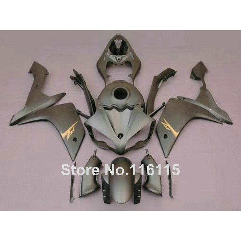 Injection molding motorcycle parts for YAMAHA YZF R1 2007 2008 fairings set YZF-R1 07 08 all matte silver ABS fairing kit QZ54 hot sales for yamaha yzf r1 2007 2008 accessories yzf r1 07 08 yzf1000 black aftermarket sportbike fairing injection molding