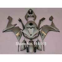 Injection molding motorcycle parts for YAMAHA YZF R1 2007 2008 fairings set YZF R1 07 08 all matte silver ABS fairing kit QZ54
