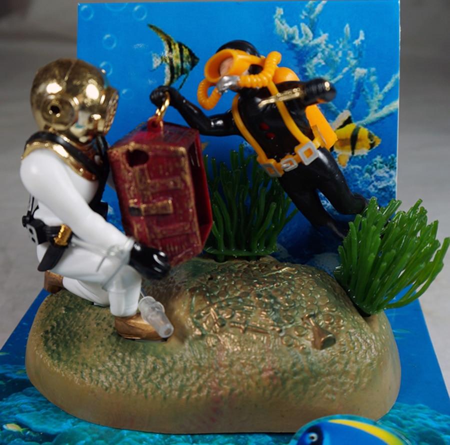 Hot Aquarium Decoration Undersea Tug Of War Fish Tank Ornament Decor For Aquarium Tank W76 Great Gif