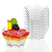 Акция-вечерние поставщики, одноразовая пластиковая посуда, 70*44 мм/60 мл черный лепесток десерт торт миска, 20/упаковка