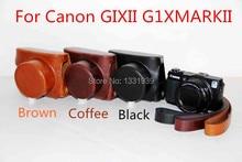 2015 красочные НОВЫЙ Кожаный чехол для Камеры крышка для CANON POWERSHOT G1X М2 MARK II G1XII камера с высоким качеством! Бесплатная доставка