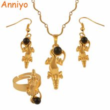 Anniyo Silver/Gold Color With Black Pearl Pendant Necklaces Earrings Ring Papua New Guinea Ethnic Jewellery PNG Gifts #121606(China)